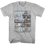 Breakfast Club 1985 Comedy Drama Group Cast Adult T-Shirt 80s  Movie