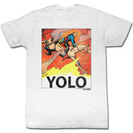 Flash Gordon 1930s Comic Strip YOLO Adult T-Shirt Tee