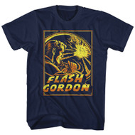 Flash Gordon 1930's Comic Strip�Space Explosion Adult T-Shirt Tee