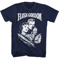 Flash Gordon 1930's Comic Strip Vintage Style Search For Adult T-shirt Group Tee