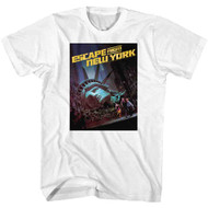 Escape From New York Run Poster White Adult T-Shirt Tee