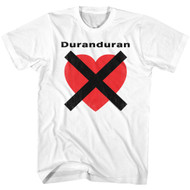 Duran Duran 1978 English New Wave Synthpop Band HeartX Adult T-Shirt Tee