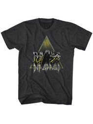 Def Leppard 1977 English Rock Band Performing Black Heather Adult T-Shirt Tee