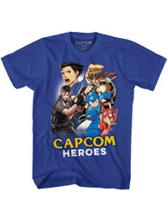 Capcom Video Game Developer Publisher Cartoonmash Royal Adult T-Shirt Tee