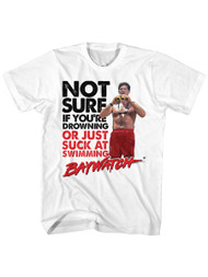 Baywatch 90's Drama Beach Patrol Lifeguard Drowning Or Suck Adult T-Shirt Tee