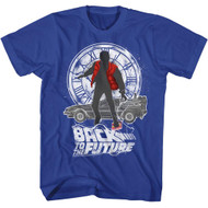 Back To The Future 1985 Comedy Action Movie�Silhouette Collage Adult T-Shirt Tee