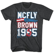 Back To The Future 1985 Comedy Action Movie�Mcfly Brown 1955 Adult T-Shirt Tee