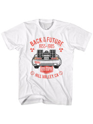 Back To The Future 1985 Comedy Action Movie�Hill Valley Adult T-Shirt Tee