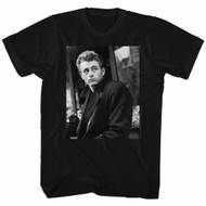 James Dean 1950's American Heartthrob Staring Adult T-Shirt Tee