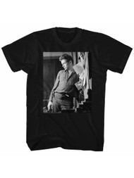 James Dean 1950's American Heartthrob Cool Lean Adult T-Shirt Tee
