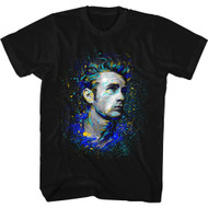James Dean 1950's American Heartthrob Splatter Icon Actor Rebel Adult T-Shirt