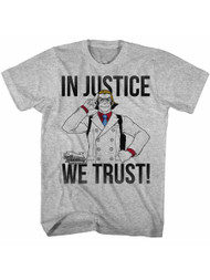 Ace Attorney Video Game In Justice We Trust Adult American Classics T-Shirt Tee