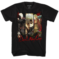 Devil May Cry Trio Black Adult T-Shirt Tee