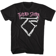 Twisted Sister Heavy Metal Band Bad to the Bone Logo Adult T-Shirt Tee
