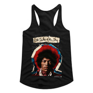 Jimi Hendrix 1960's Psychedelic Musical Icon Both Sides of Sky Ladies Tank Top