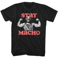 Macho Man Randy Savage 1980's Wrestler Wrestling Stay Macho T-Shirt Tee