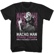 Macho Man Randy Savage 1980's Wrestler Heavyweight Champ T-Shirt Tee