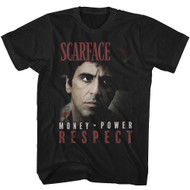 Scarface 1980's Gang Crime Classic Movie Money Power Respect T-Shirt Tee