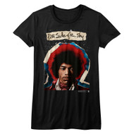 Jimi Hendrix 1960's Psychedelic Musical Icon Both Sides of Sky Juniors T-Shirt