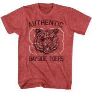 Saved By The Bell 1980's Sitcom Authentic Bayside Tigers Logo T-Shirt Tee