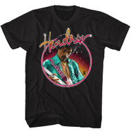 Jimi Hendrix 1960's Psychedelic Musical Icon Neon Lights Sign Adult T-Shirt Tee