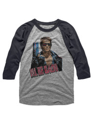Terminator 1980's Scifi Action Cyborg Movie I'll Be Back Reglan Adult T-Shirt