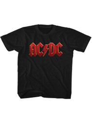 AC/DC Hard Rock Band Music Group Red Distressed Logo Little Boys Tod T-Shirt Tee