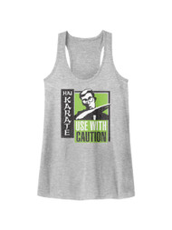 Hai Karate Aftershave Fragrance Use With Caution Green Chop Womens Tank Top Tee