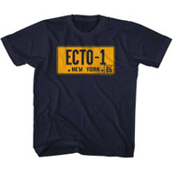 The Real Ghostbusters Animated TV Show Ecto-1 License Plate Big Boys T-Shirt Tee