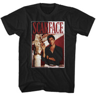 Scarface 1980's Gang Crime Classic Movie Tony Montana Cigar Adult T-Shirt Tee