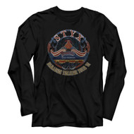 Styx 1972 Rock Band Paradise Theatre Tour 1981 Adult Long Sleeve T-Shirt Tee