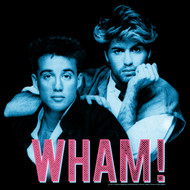 Wham English Music Duo Blue Pink Black Adult T-Shirt Tee