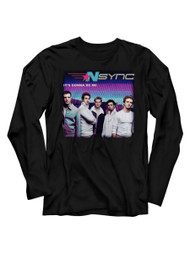 NSYNC 1995 Boy Band Group Photo It's Gonna Be Me Adult Long Sleeve T-Shirt Tee