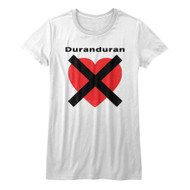 Duran Duran 1978 English New Wave Synthpop Band HeartX Juniors T-Shirt Tee