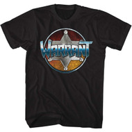 Warrant American Glam Metal Band Chrome Black Adult T-Shirt Tee