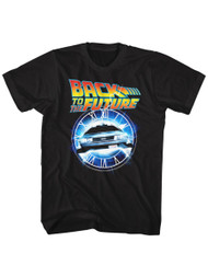 Back To The Future 1985 Comedy Action Movie�Clock Car Adult T-Shirt Tee