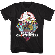 Real Ghostbusters Realgb Black Adult T-Shirt Tee