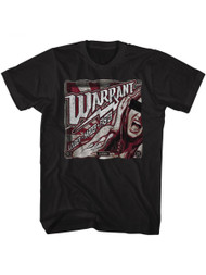 Warrant American Glam Metal Band Louder Harder Faster Black Adult T-Shirt Tee