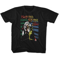 Twisted Sister American Heavy Metal Band Stay Hungry Black Toddler T-Shirt Tee