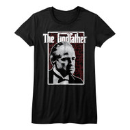 Godfather 1970s Mob Crime Drama Movie Seeing Red Stare Juniors T-Shirt Tee