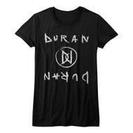 Duran Duran 1978 English New Wave Synthpop Band DD Mirror Juniors T-Shirt Tee