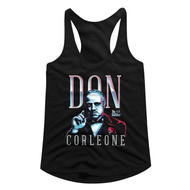 Godfather 1970s Mob Crime Drama Movie Don Corleone Ladies Racerback Tank Top Tee