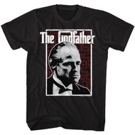 Godfather 1970s Mob Crime Drama Movie Seeing Red Stare Adult T-Shirt Tee