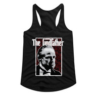 Godfather 1970s Mob Crime Drama Movie Seeing Red Ladies Racerback Tank Top Tee