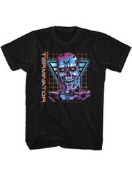 Terminator 1980's Scifi Action Cyborg Movie Robot Face Adult T-Shirt Tee