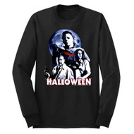 Halloween Ensemble Black Adult Long Sleeve T-Shirt Tee