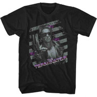 Terminator 1980s SciFi Action Movie So Cool in Sunglasses Gun Adult T-Shirt Tee