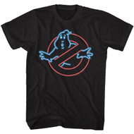 The Real Ghostbusters Animated Series Neon Ghost Black Adult T-Shirt Tee