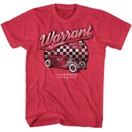 Warrant American Glam Metal Band Warrant Garage Cherry Heather Adult T-Shirt Tee