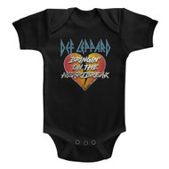 Def Leppard 1977 English Rock Band Bringin Heartbreak Blk Infant Baby Snapsuit